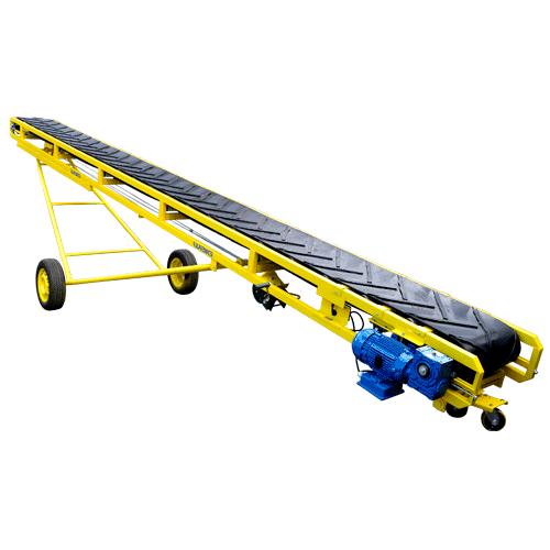Esteira para transporte de produtos a granel e embalados