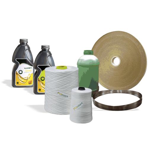 Suprimentos para equipamentos WAIG, como: fios, óleos, fita crepe, fita de aço, motores, redutores entre outros.